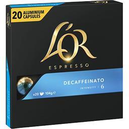 Maison du Café L'Or Espresso Capsules de café Decaffeinato le paquet de 20 capsules - 104 g