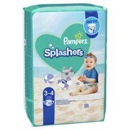 Pampers Pampers Couches-culottes de bain jetables splashers t3-4 Le paquet de 12