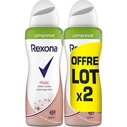 Rexona Rexona Déodorant femme musc le lot de 2 spray compressés de 100ml