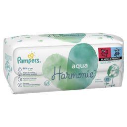 Pampers Pampers Lingettes pour bébé aqua harmonie Le paquet de96lingettes