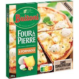 Buitoni Buitoni Four à Pierre - pizza 4 fromages le paquet de 330g