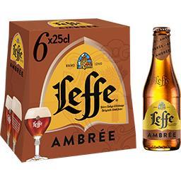 Leffe Leffe Bière ambrée les 6 bouteilles de 25 cl