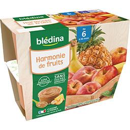 Blédina Blédina Harmonie de Fruits, de 6 à 36 mois les 4 pots de 100 g