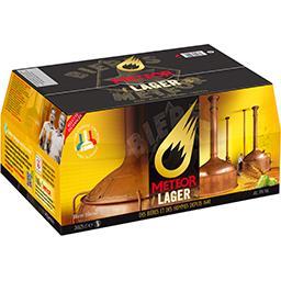 Meteor Pils Meteor Bière blonde les 24 bouteilles de 25 cl