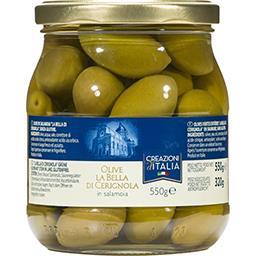Creazioni d'italia Creazioni d'Italia Olives vertes entières La Bella Di Cerignola le pot de 320 g net égoutté