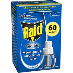 Recharge moustiques & moustiques tigres 60 nuits