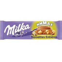 Milka Milka Chocolat au lait noisettes entières la tablette de 270 g
