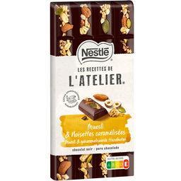 Nestlé Nestlé Grand Chocolat Les Recettes de l'Atelier - Chocolat noir muesli & noisettes caramélisées la tablette de 170 g