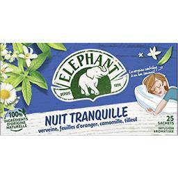 Elephant Eléphant Infusion Nuit Tranquille la boite de 25 sachets - 38 g
