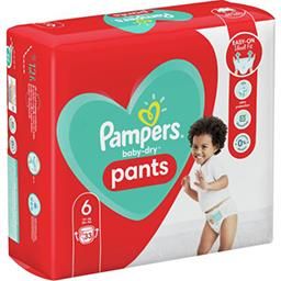 Pampers Pampers Couches-culottes baby-dry pants taille6, 15kg+ Le paquet de 33 couches