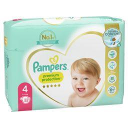 Pampers Pampers Couche Premium Protection taille4,9kg-14kg Le paquet de 37 couches