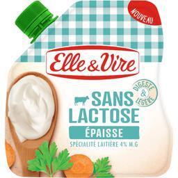 Elle & Vire Elle & Vire Spécialité laitière épaisse sans lactose la poche de 338 g