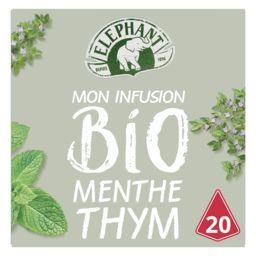 Lipton Eléphant Mon Infusion BIO menthe thym la boite de 20 sachets - 26 g