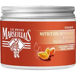 Masque nutrition intense à l'huiles de karité et d'argan pour cheveux très secs et frisés