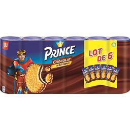 LU LU Prince - Biscuits goût chocolat au blé complet les 6 paquets de 300 g