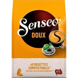 Maison du Café Senseo Dosettes de café moulu doux le paquet de 40 dosettes - 277 g