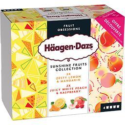 Häagen-Dazs Haagen-Dazs Assortiments de crèmes glacées Sunshine Fruit Collection les 4 pots de 95 ml