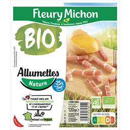 Fleury Michon Fleury Michon Allumettes nature BIO réduit en sel les 2 barquettes de 60g