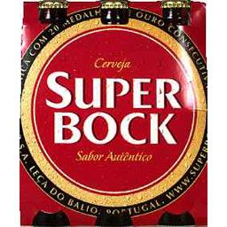 Super Bock Super Bock Bière blonde les 6 bouteilles de 25 cl
