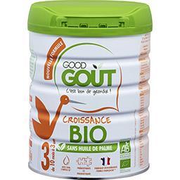 Good Goût Good Goût Lait en poudre BIO 3, de 10 mois à 3 ans la boite de 800 g