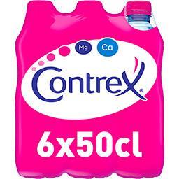 Contrex Contrex Eau minérale naturelle les 6 bouteilles de 50cl - 300cl