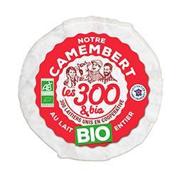 Les 300 & Bio Les 300 & bio Camembert au lait entier BIO la boite de 250 g