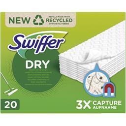 Swiffer Swiffer Recharges lingettes sèches pour sols La boîte de 20 lingettes
