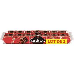 Suchard Suchard Rocher chocolat au lait le lot de 2 paquets de 7 rochers