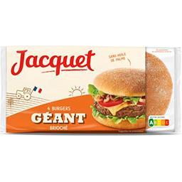 Jacquet Jacquet Pain Burger géant brioché le paquet de 4 - 300 g