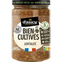 D'aucy D'aucy Lentilles le bocal de 250 g net égoutté