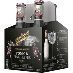 Schweppes Schweppes Boisson gazeuse saveur poivre rose les 4 bouteilles de 20cl - 80cl