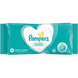 Pampers Pampers Lingettes bébé sensitive Paquet de 52 lingettes