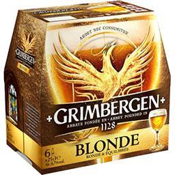 Grimbergen Grimbergen Bière blonde d'Abbaye le pack de 6x25cl