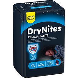 Huggies DryNites Sous-vêtements de nuit absorbants garçon 16-23 kg le paquet de 16