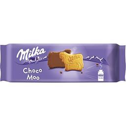 Milka Milka Biscuits Choco Moo nappés chocolat au lait le paquet de 15 biscuits - 200 g
