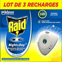 Night & Day - Recharge diffuseur anti moustiques et mouches sans parfum