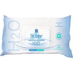 Biolane Biolane Lingettes bébé épaisses H2O le paquet de 72
