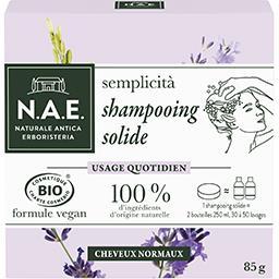 N.A.E. N.A.E. Shampooing solide Bio quotidien cheveux normaux le pain de 85g