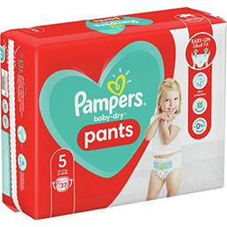 Pampers Pampers Couches-culottes baby-dry pants taille5, 12-17kg Le paquet de 37 couches