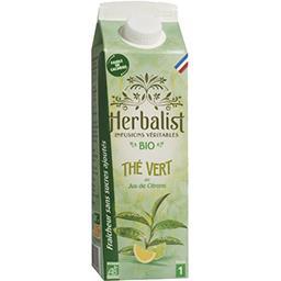 Herbalist Herbalist Boisson au Thé Vert Citrons Bio la brique de 1l