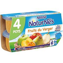 Nestlé Nestlé NaturNes - Purée de fruits du verger, dès 6 mois les 4 pots de 130 g