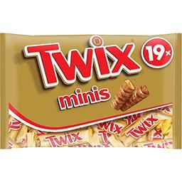 Twix Twix Barres chocolatées Minis biscuit nappage caramel le sachet de 403 g