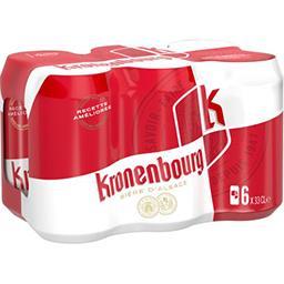 Kronenbourg Kronenbourg Bière d'Alsace les 6 canettes de 33 cl