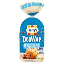 Harry's Harrys Doowap Brioches aux pépites de chocolat au lait Sans Additifs le paquet de 8 - 320g