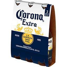 Corona Extra Corona Extra - Bière du Mexique les 3 bouteilles de 35,5 cl