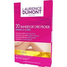 Laurence Dumont Laurence Dumont Bandes de cire froide jambes & corps la boite de 20 bandes + 4 lingettes