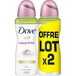 Dove Dove Anti transpirant beauty finish compressé le lot de 2 spray de 100ml