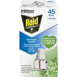 Raid Raid Essentials - Recharge pour diffuseur répulsif moustiques la recharge de 32 ml