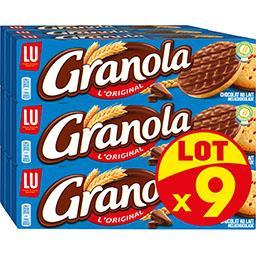 LU LU Granola - Biscuits L'Original chocolat au lait le lot de 9 paquets de 200 g