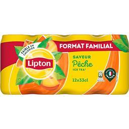 Lipton Lipton Ice Tea - Boisson pêche les 12 boites de 33 cl
